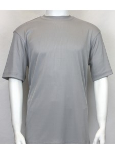 Bassiri S/S Mens Knit Microfiber T-Shirt - Grey