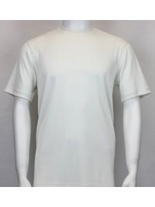 Bassiri S/S Mens Knit Microfiber T-Shirt - Ivory