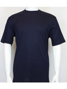 Bassiri S/S Mens Knit Microfiber T-Shirt - Navy