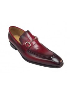 Men's Slip On Shoe by Carrucci  Red Ombre