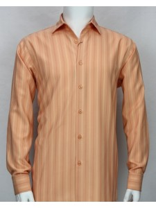 Bassiri L/S Button Down Men's Shirt - Coral Shadow Stripe *NEW*