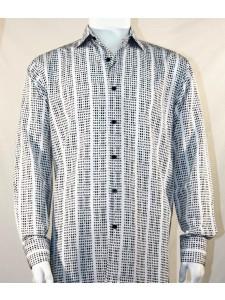 Bassiri L/S Button Down Men's Shirt - Mini Dots B/W