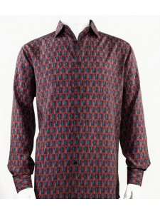 Bassiri L/S Button Down Men's Shirt - Doors / Red