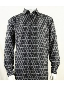Bassiri L/S Button Down Men's Shirt - Doors / Black