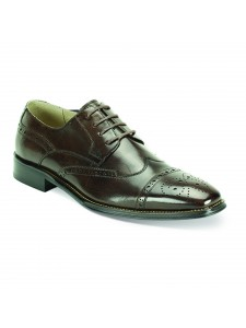 Brogue Lace-Up Men's Shoe by Giovanni - Choc Brown