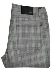Enzo Denim Collection Men's Jeans - Alpha-177 Blk Plaid