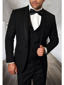 Men's Tux - Tailored Fit - Caesar Black