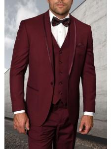 Men's Tux - Tailored Fit - Caesar Burgundy