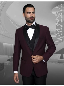 Men's Formal Tux - Modern Fit - Encore Burgundy