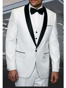 Men's Tux - Tailored Fit - Enzo-7 White