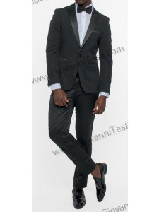 Giovanni Testi Slim Fit Tuxedo Suit - Glitter / Black
