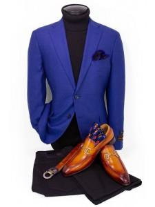 Men's Blazer by Tiglio Luxe - Dolcetto Blue
