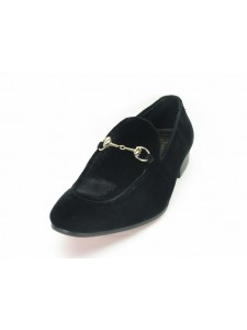 Men's Black Velvet Slip On by Carrucci