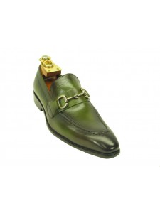 Men's Fashion Shoes by Carrucci - Slip-On Olive Ombre