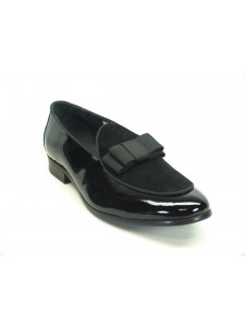 Men's Fashion Shoes by Carrucci - Duo / Bow Black
