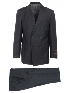 Tiglio Luxe Modern Fit Men's 2Pc Suit - Merlot DB Charcoal Gray
