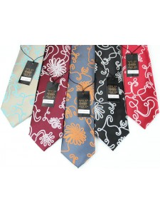 Men's Silk Tie and Pocket Square Set by Verse 9 - PALM ISLAND 6-10