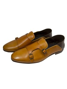 Giovanni Marquez Men's Shoes - Double Buckle / Tan