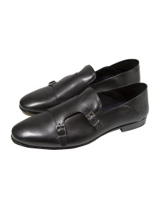 Giovanni Marquez Men's Shoes - Double Buckle / Black