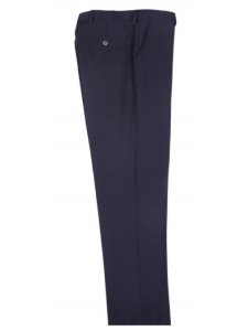 Men's Flat-Front Pants by Tiglio - Black