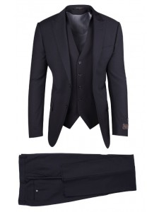 Tiglio Luxe Modern Fit Men's Suit - TUFO Black