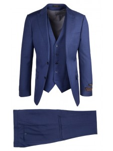 Tiglio Luxe Modern Fit Men's Suit - Tufo Blue