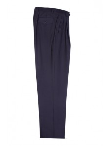 Men's Wide Leg Pleated Pants by Tiglio - 2576 Black