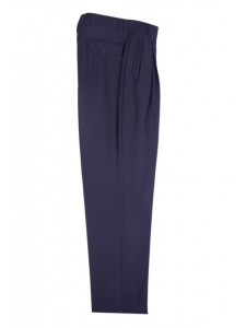 Men's Wide Leg Pleated Pants by Tiglio - 2576 Navy