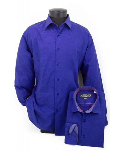 Giovanni Marquez Men's European Shirt - Blue / Shadow Pattern a