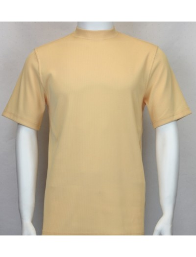 Bassiri S/S Mens Knit Microfiber T-Shirt - Yellow