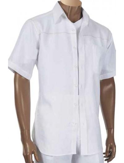 Men's 100% Linen S/S Shirt by Inserch / Merc - White