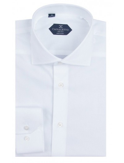 Canaletto Dress Shirts for Men @ FashionMenswear.com, Canaletto Modern Fit Men's Dress Shirt - Made in Italy - Acapulco White