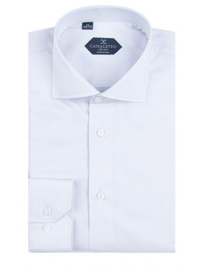 Canaletto Modern Fit Men's Dress Shirt - Made in Italy - Acapulco Lt Blue