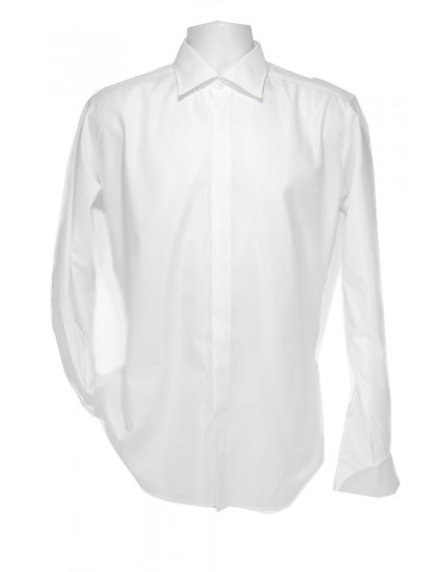 Giovanni Marquez Italian Cotton Shirt - White - French Cuff - Satin Finish