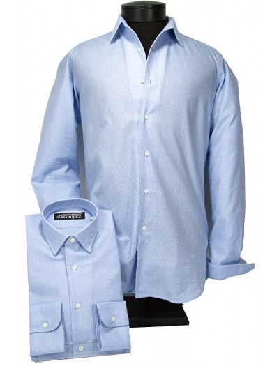 Giovanni Marquez Italian Cotton Shirt - Blue a