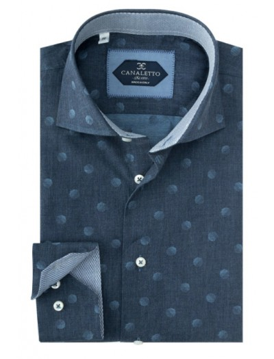 Tiglio / Canaletto L/S Sport Shirt - Blue / Dot a
