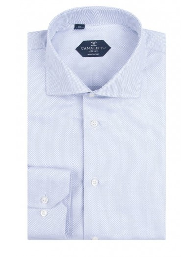 Canaletto Modern Fit Men's Dress Shirt - Made in Italy - Firenze Lt Blue