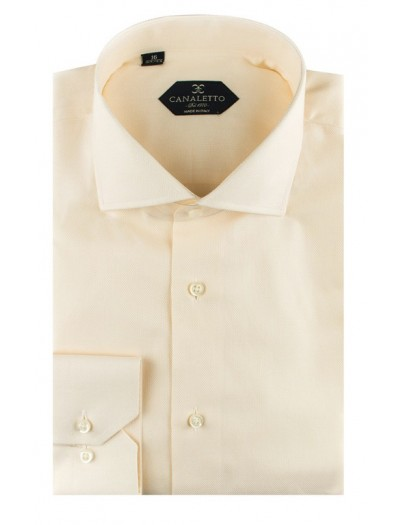 Canaletto Modern Fit Men's Dress Shirt - Made in Italy - Firenze E Beige