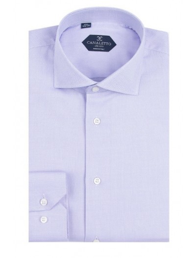 Canaletto Modern Fit Men's Dress Shirt - Made in Italy - Firenze E Lavender