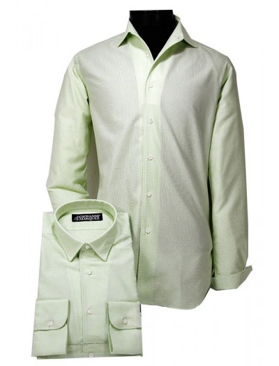 Giovanni Marquez Italian Cotton Shirt - Green