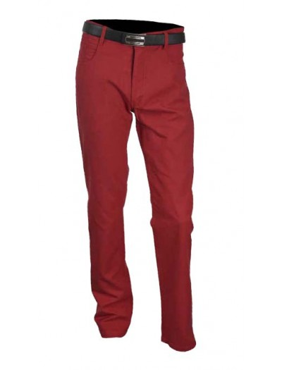 Men's Cotton / Linen Pants by Merc/InSerch - Cranberry