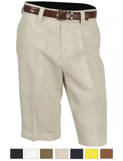 Men's Linen Flat Front Shorts by Merc/InSerch - 7 Colors a