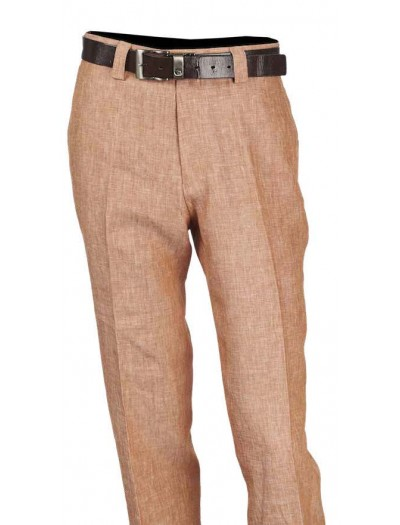 Men's 100% Linen Flat Front Pants by Merc/InSerch - 6 Colors a