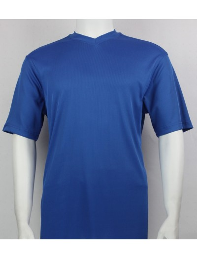 Bassiri S/S Mens V-Neck Knit Microfiber T-Shirt Royal