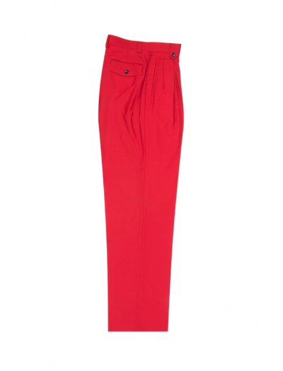 Men's Wide Leg Pleated Pants by Tiglio - 2586/2576 Red
