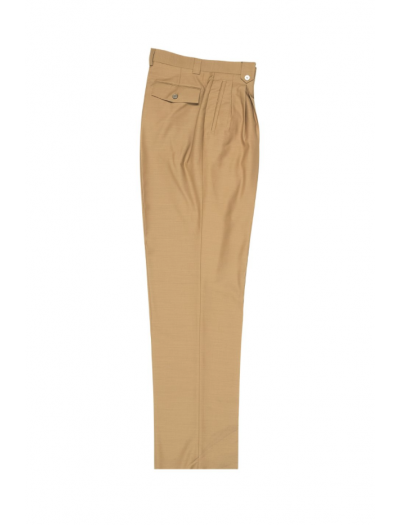 Men's Wide Leg Pleated Pants by Tiglio - 2586/2576 Camel