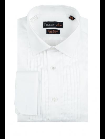 Tuxedo Shirt White by Tiglio