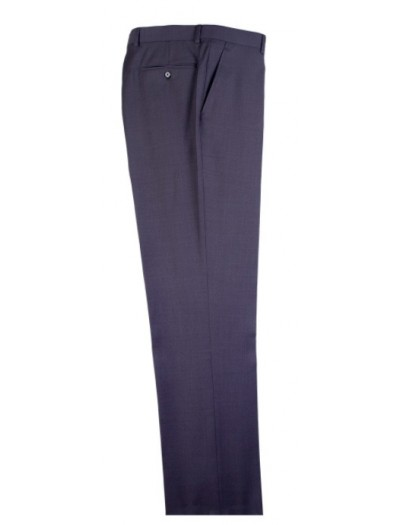 Men's Flat-Front Pants by Tiglio - Med Gray