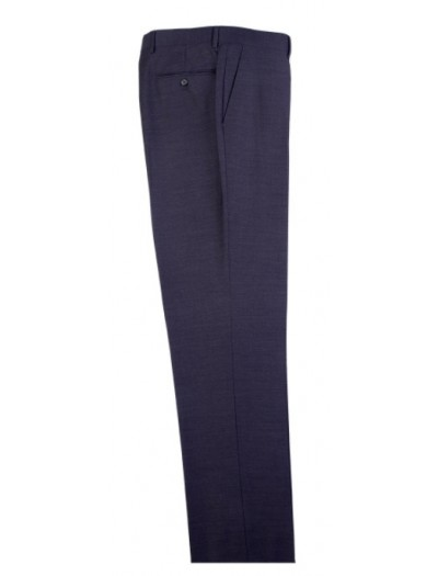 Men's Flat-Front Pants by Tiglio - Charcoal Gray