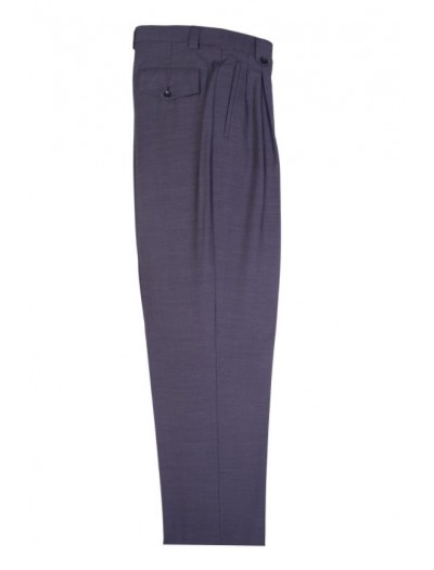 Men's Wide Leg Pleated Pants by Tiglio Charcoal